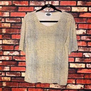 XL Vintage Bombshell Snake Skin T-Shirt